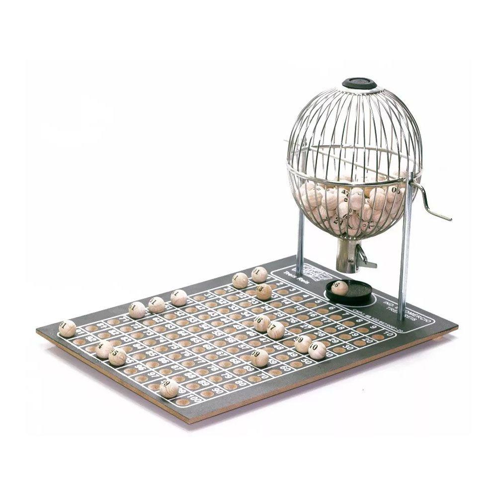 Jogo Tabuleiro / Bingo - Vispora - N2 - 100 Pedras- Cromado - Três Reis