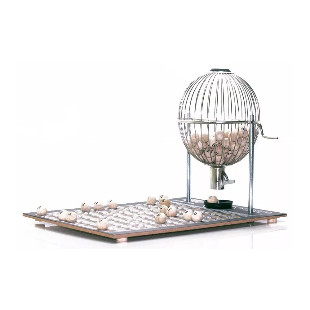 Jogo Tabuleiro / Bingo - Vispora - N2 - 100 Pedras- Cromado - Três Reis  - Loja do Competidor