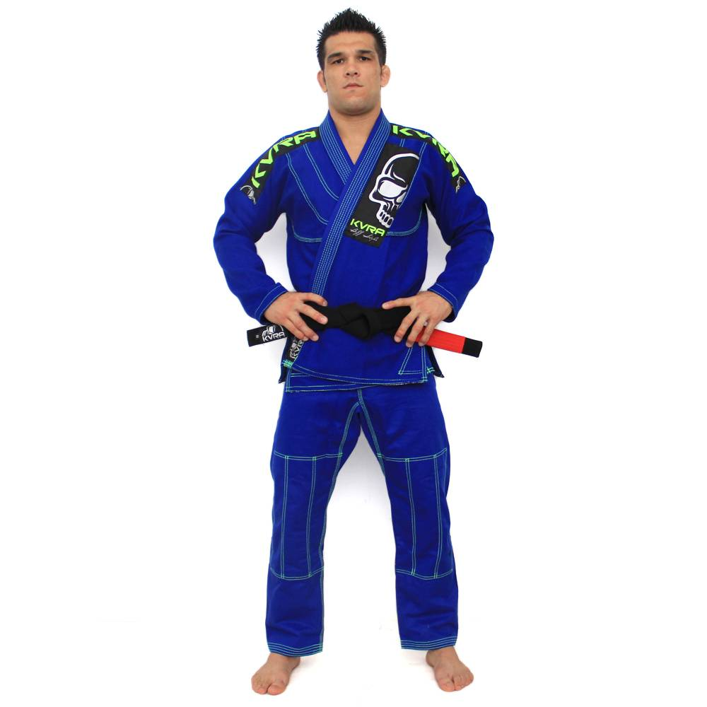 Kimono Jiu Jitsu - BJJ Style - Trancado - Kvra- Azul