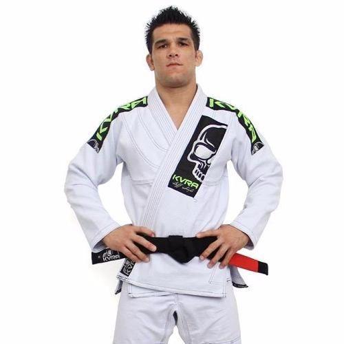 Kimono Jiu Jitsu - BJJ Style - Trancado - Kvra- Branco  - Loja do Competidor