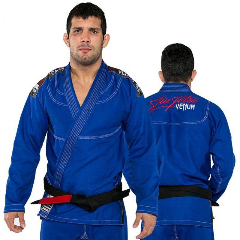 Kimono Jiu Jitsu - Challenger 2.0 - Trancado - Venum - Azul .