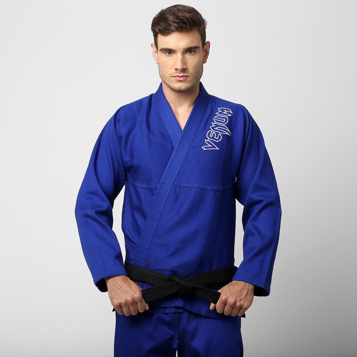 Kimono Jiu Jitsu Contender BJJ - Trancado - Venum - Azul -