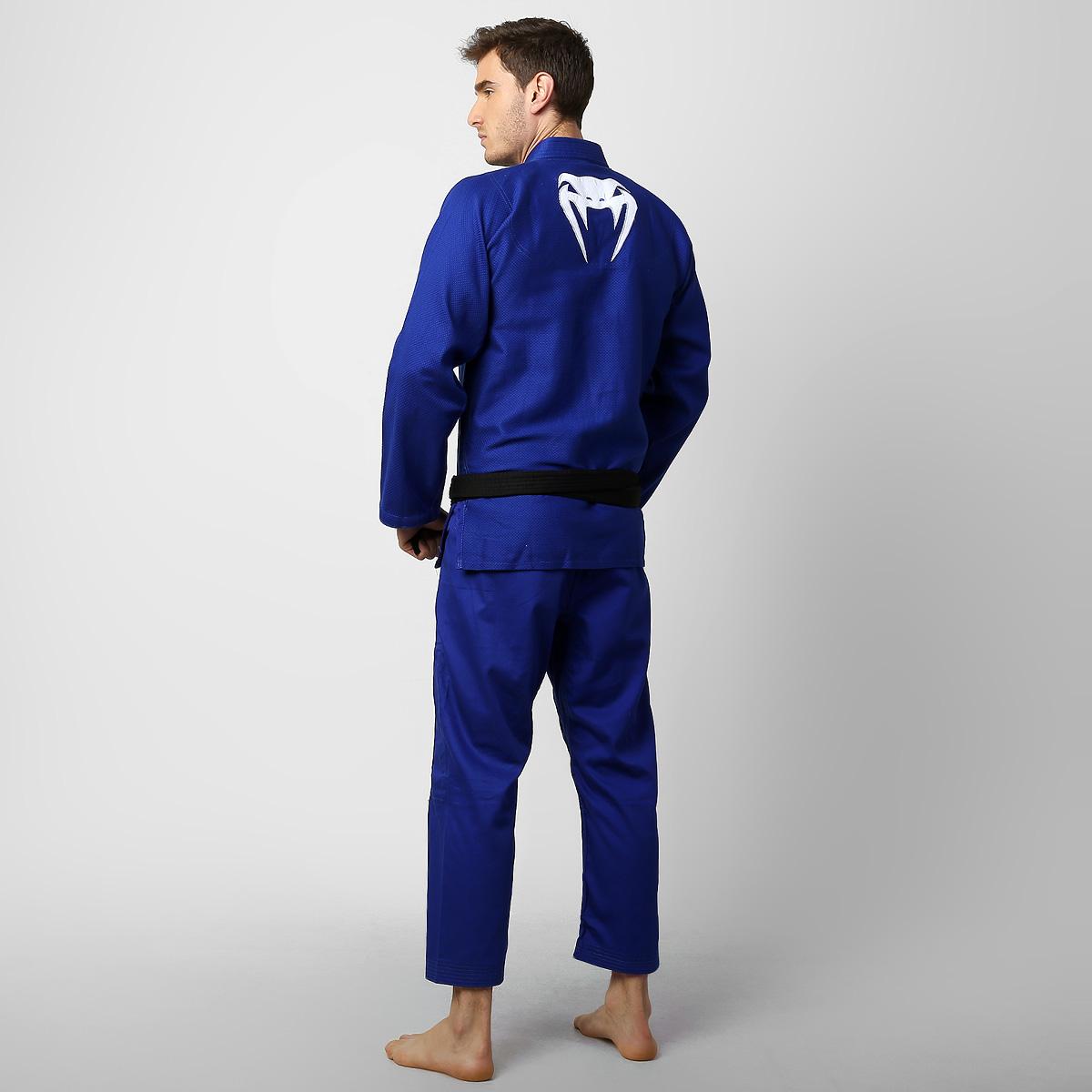 Kimono Jiu Jitsu - Contender BJJ - Trancado - Venum - Azul .  - Loja do Competidor