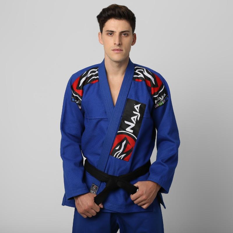 Kimono Jiu Jitsu - Extreme - Trancado - Naja - Azul