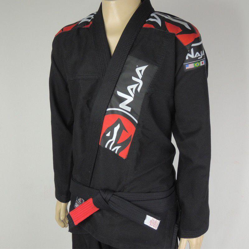 Kimono Jiu Jitsu - Extreme - Trancado - Naja - Preto .