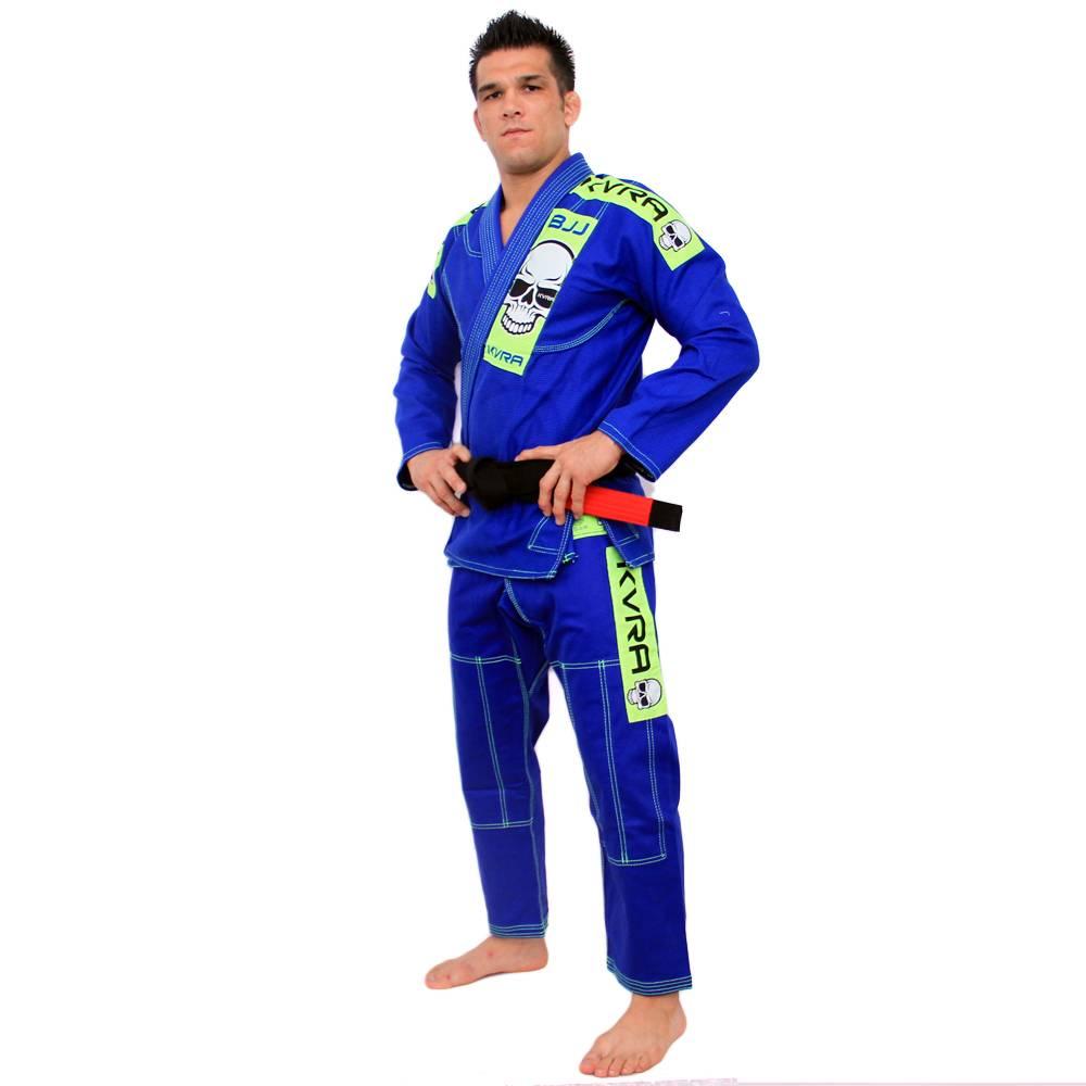 Kimono Jiu Jitsu - Full Skull - Trancado - Kvra- Azul