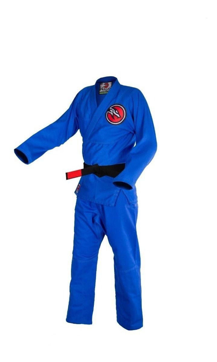 Kimono JIu Jitsu Naja New First Trançado Leve OPP - Azul  - Loja do Competidor