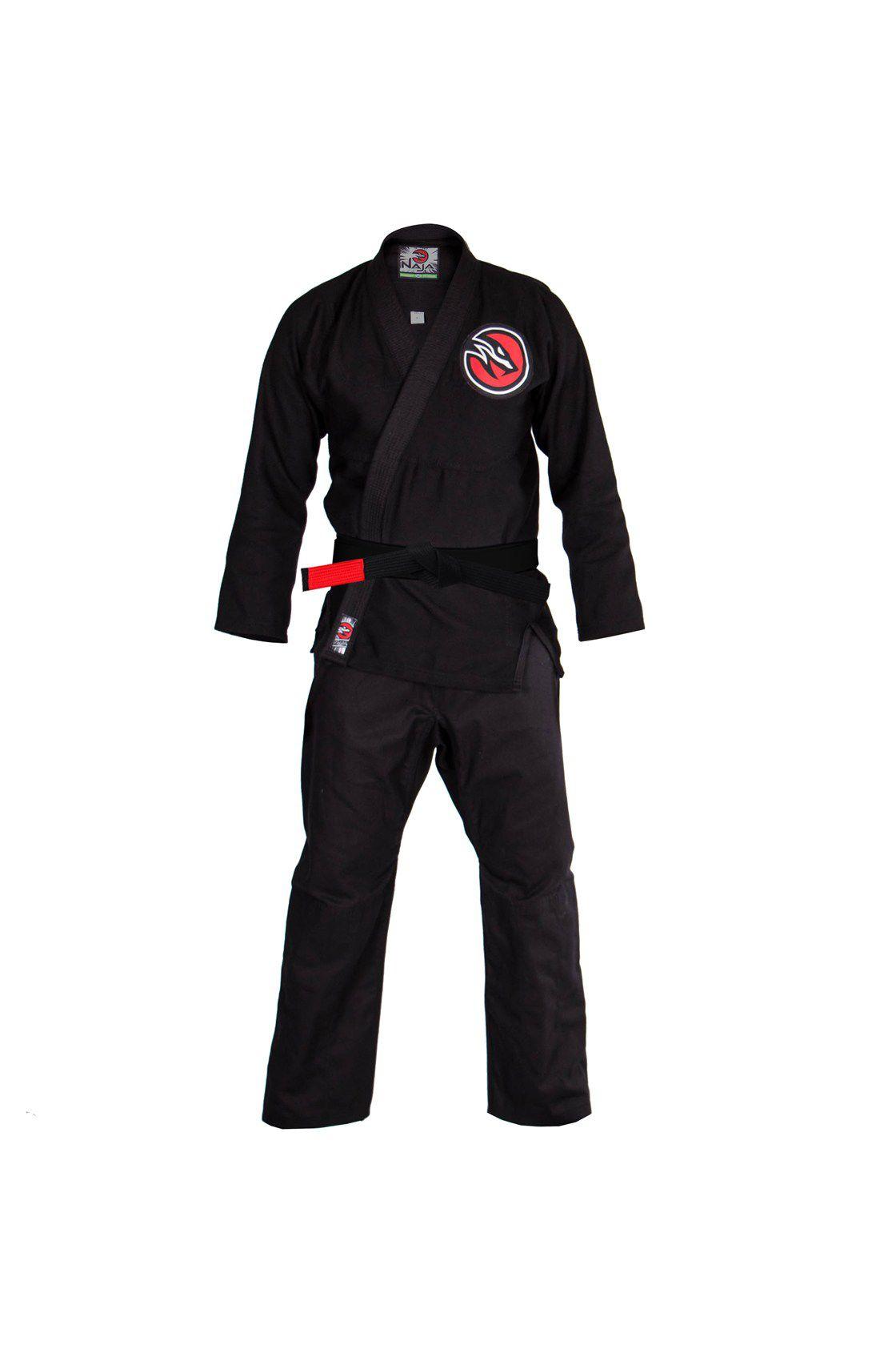 Kimono JIu Jitsu Naja New First Trançado Leve - OPP - Preto  - Loja do Competidor