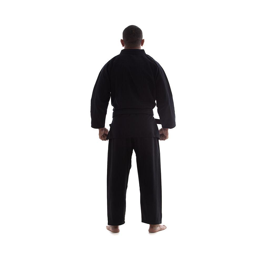 Kimono Jiu Jitsu / Ninjutsu - Trançadinho - Adulto - Shiroi - Preto  - Loja do Competidor