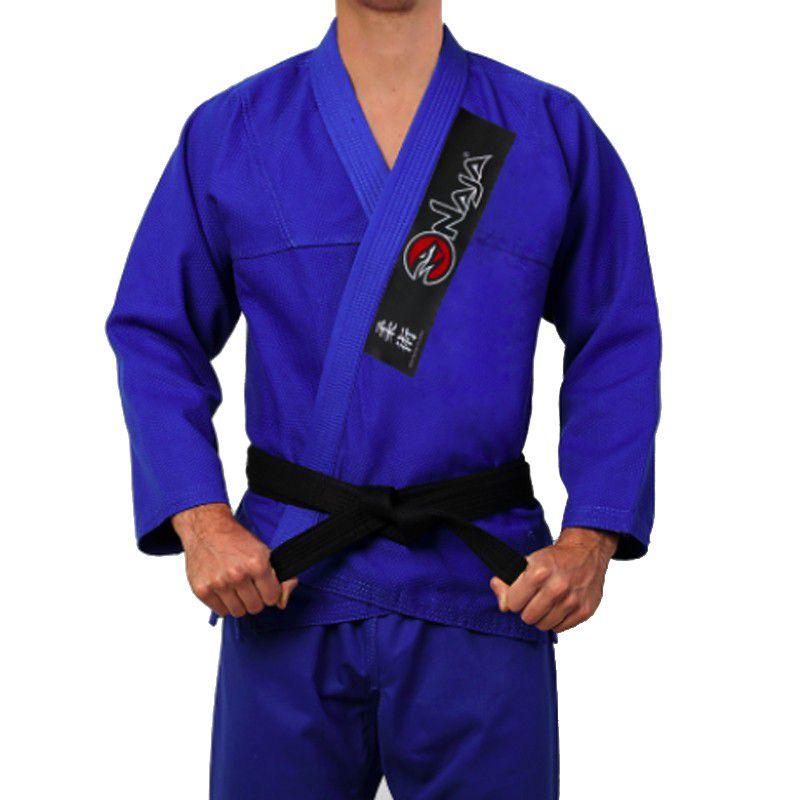 Kimono Jiu Jitsu - One - Trancado - Naja - Azul .