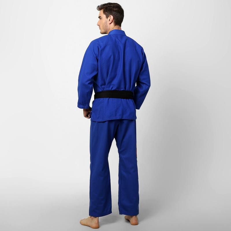 Kimono Jiu Jitsu - One - Trancado - Naja - Azul .  - Loja do Competidor