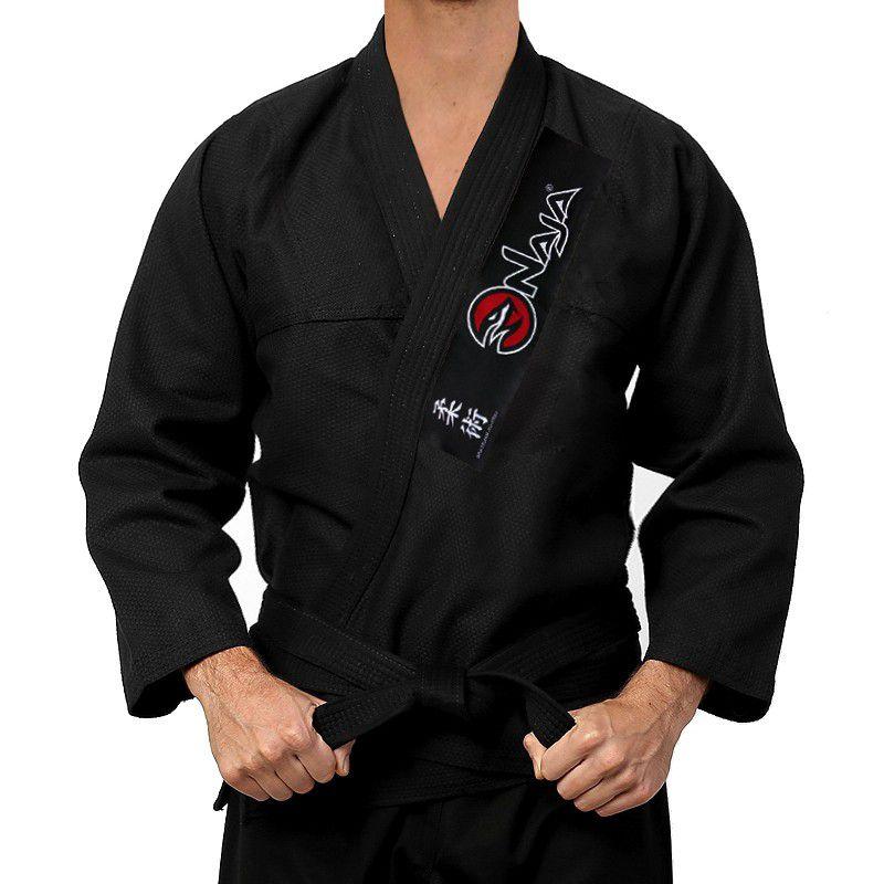 Kimono Jiu Jitsu - One - Trancado - Naja - Preto .