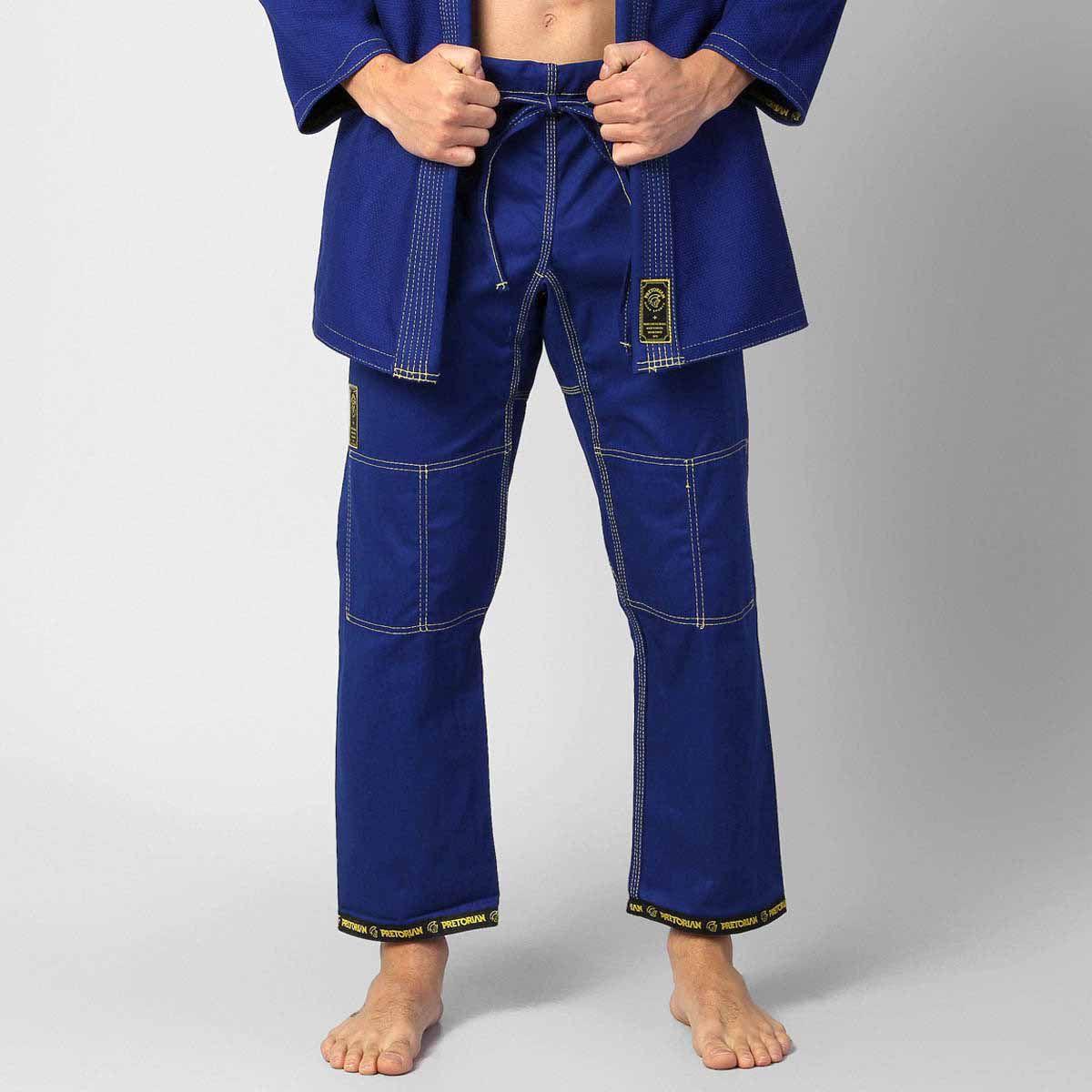 Kimono Jiu Jitsu - Pretorian Elite Pro - Azul -  - Loja do Competidor