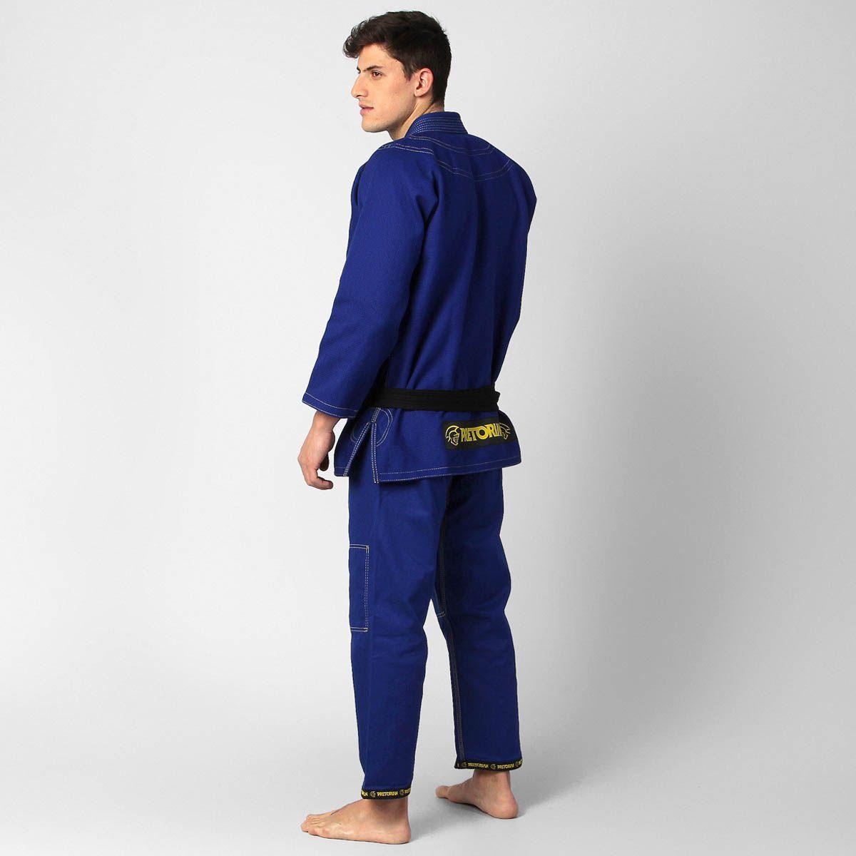 Kimono Jiu Jitsu - Pretorian Pro - Azul  - Loja do Competidor