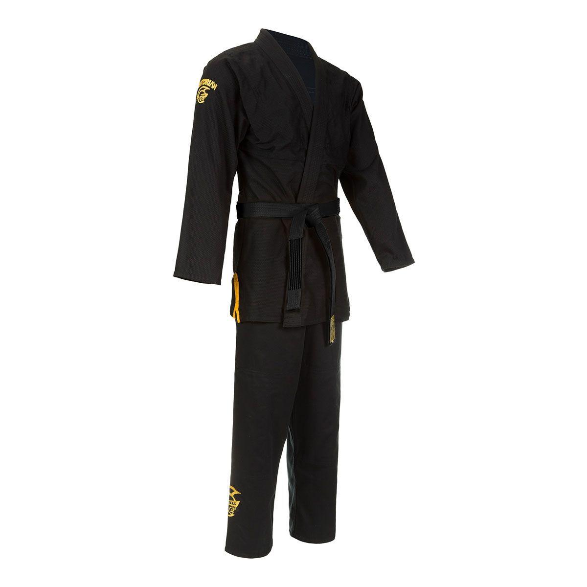 Kimono Jiu Jitsu - Trançado Leve - Adulto - Elite Training - Pretorian - Preto  - Loja do Competidor