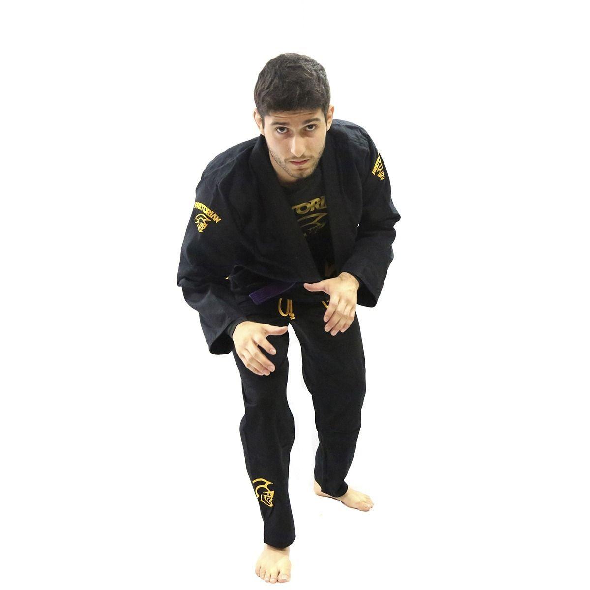 Kimono Jiu Jitsu - Trançado Leve - Adulto - Elite Training - Pretorian - Preto