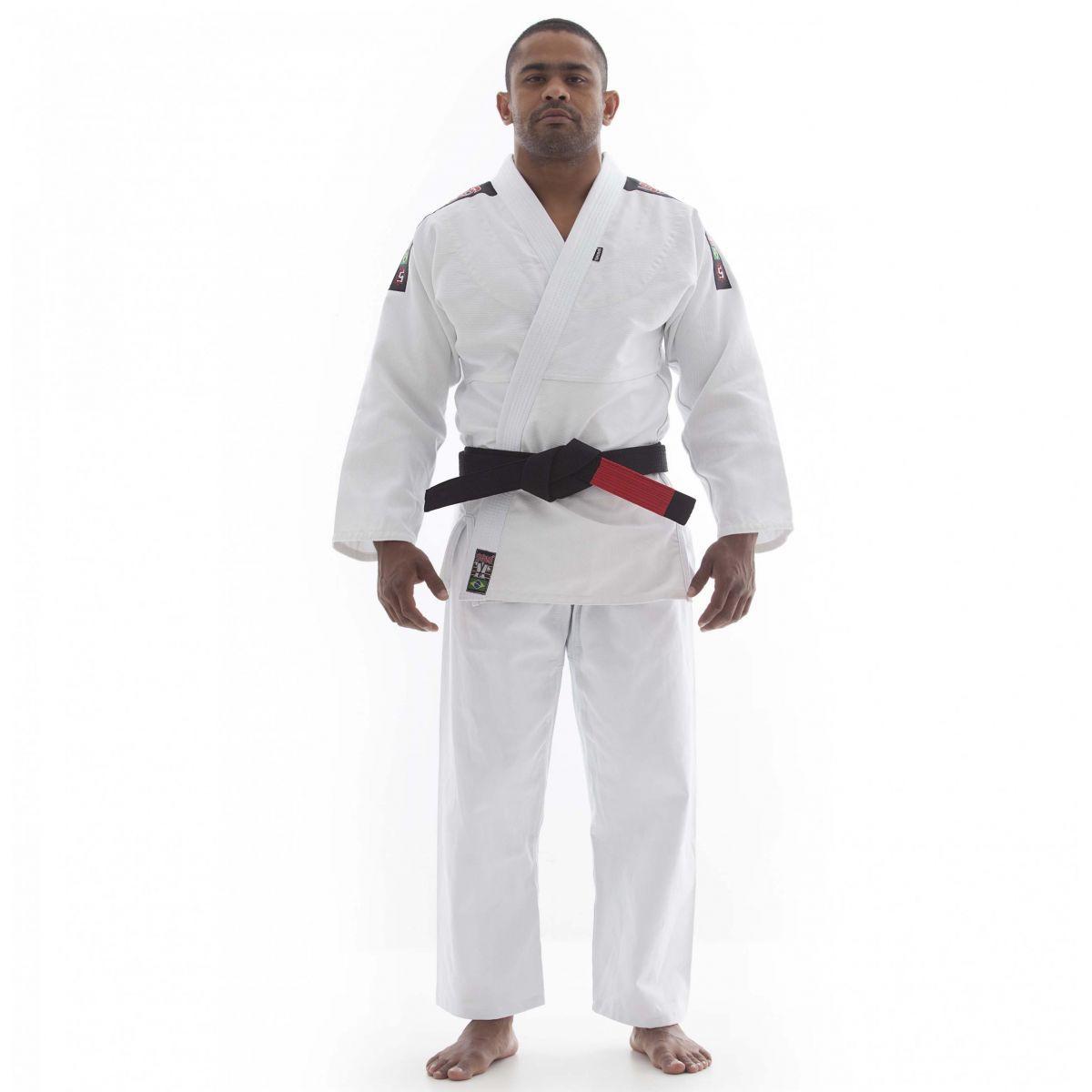 Kimono Jiu Jitsu - Trançadinho - Adulto - Shiroi - Branco .