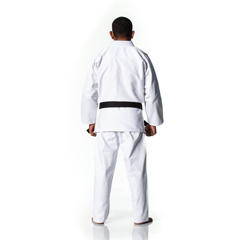 Kimono Jiu Jitsu - Trançadinho - Adulto - Shiroi - Branco .  - Loja do Competidor