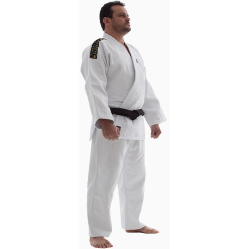 Kimono Jiu Jitsu - Trançadinho - Single  - Adulto - Shiroi - Branco .  - Loja do Competidor