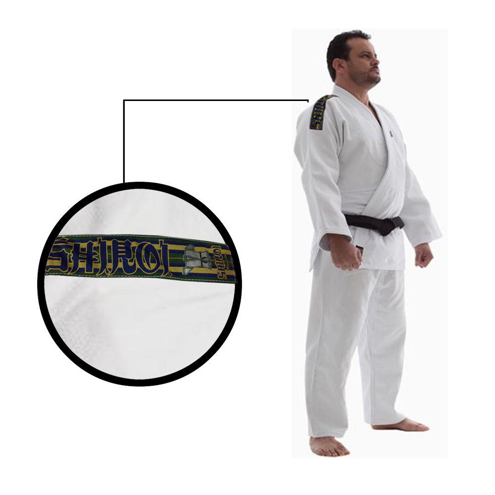 Kimono Jiu Jitsu - Trançadinho - Single  - Adulto - Shiroi - Branco  - Loja do Competidor