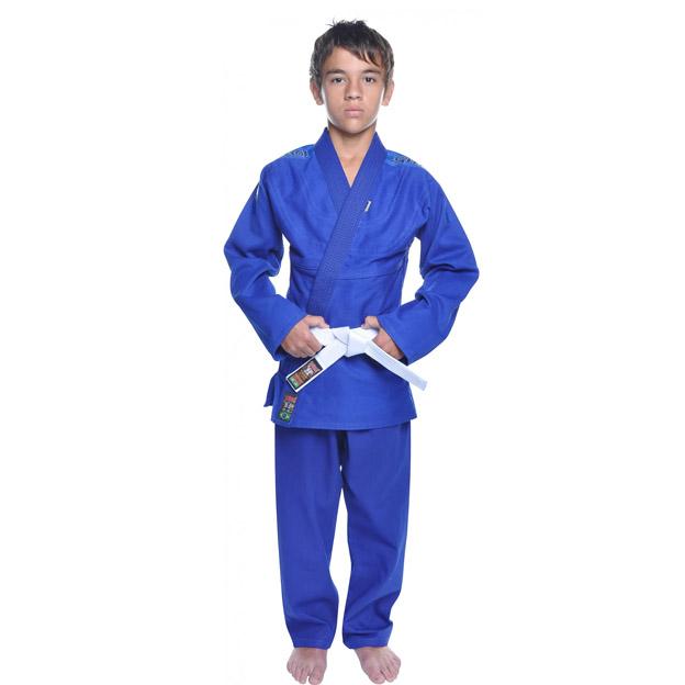 Kimono Jiu Jitsu - Trancadinho - Shiroi - Azul - Infantil .