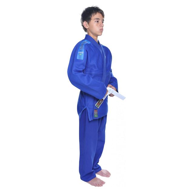 Kimono Jiu Jitsu - Trancadinho - Shiroi - Azul - Infantil .  - Loja do Competidor