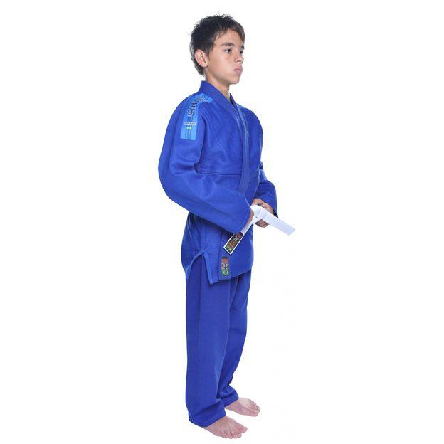 Kimono Jiu Jitsu - Trancadinho - Shiroi - Azul - Infantil  - Loja do Competidor