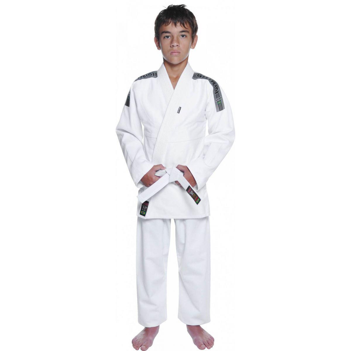 Kimono Jiu Jitsu - Trancadinho  - Tradicional - Shiroi - Branco - Infantil .