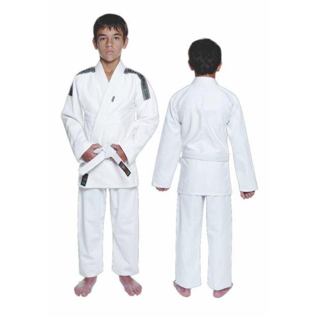 Kimono Jiu Jitsu - Trancadinho  - Tradicional - Shiroi - Branco - Infantil .  - Loja do Competidor