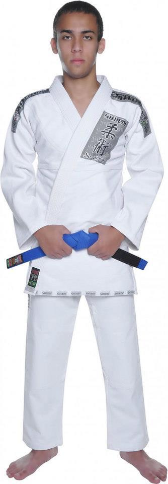 Kimono Jiu Jitsu - Trançadinho - Tradicional - Adulto - Shiroi - Branco