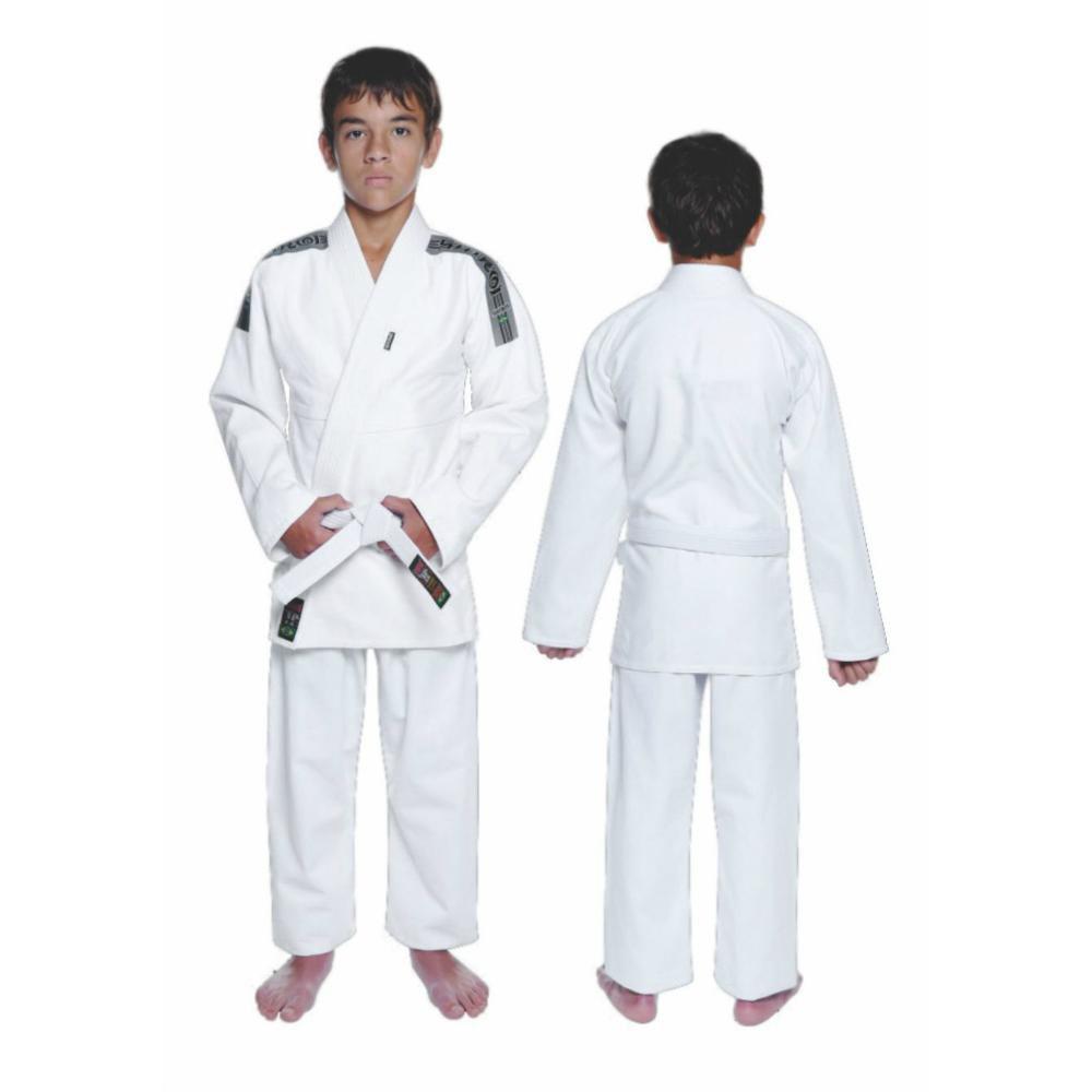 Kimono Jiu Jitsu - Trançadinho - Tradicional - Adulto - Shiroi - Branco  - Loja do Competidor