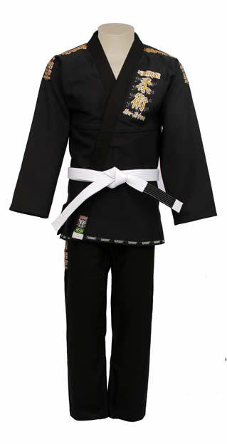 Kimono Jiu Jitsu - Trançadinho - Tradicional - Adulto - Shiroi - Preto  - Loja do Competidor