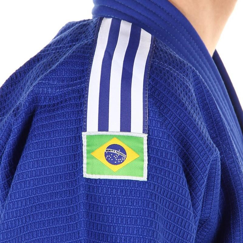 Kimono Jiu Jitsu - Trancado - Adidas - Azul - Bordado .  - Loja do Competidor