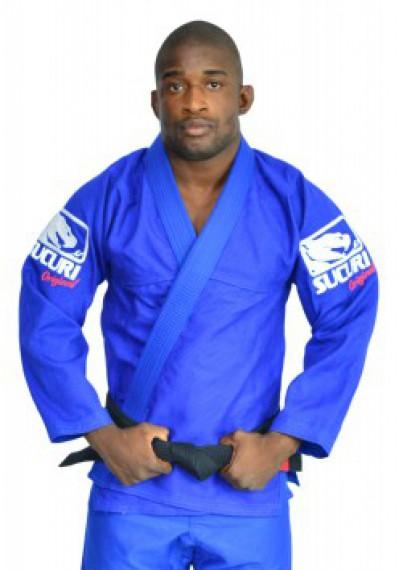 Kimono Jiu Jitsu Trancado - Bordado - Azul - Sucuri Fight Pro .