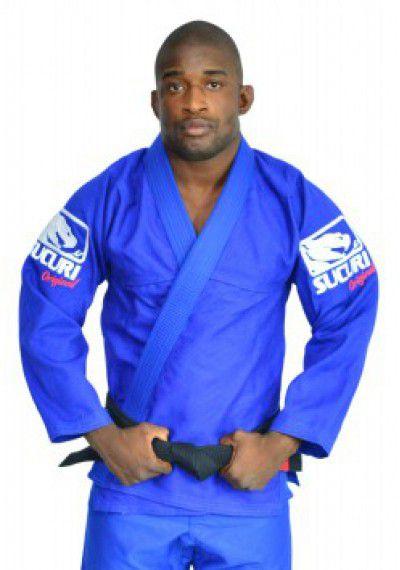 Kimono Jiu Jitsu Trancado - Bordado - Azul - Sucuri Fight Pro