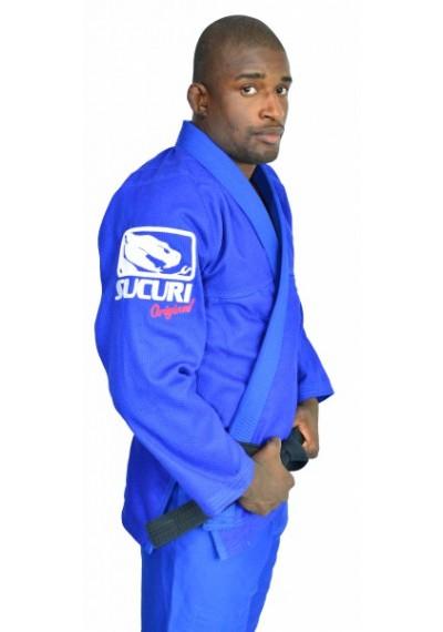 Kimono Jiu Jitsu Trancado - Bordado - Azul - Sucuri Fight Pro .  - Loja do Competidor