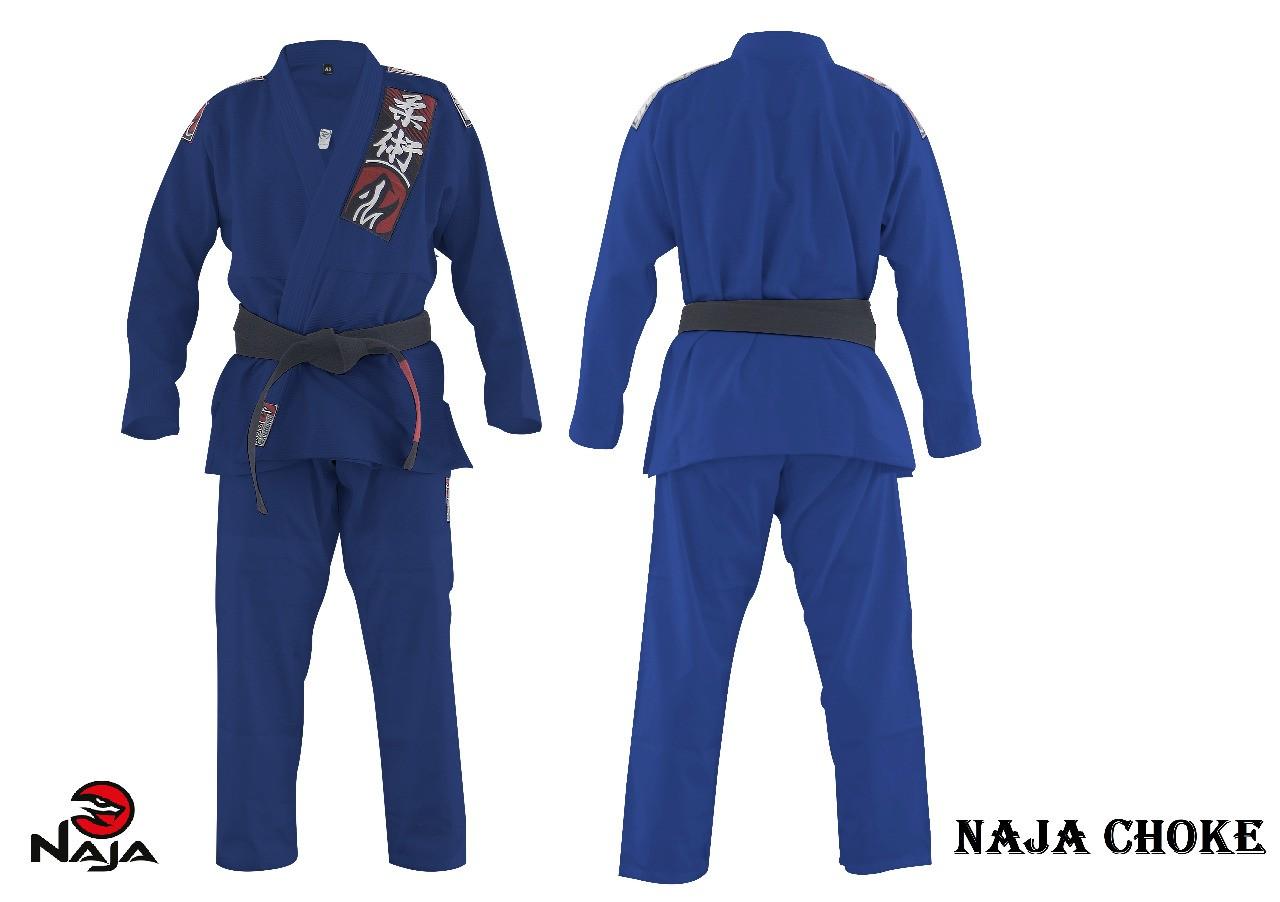 Kimono Jiu Jitsu Trancado Choke - Azul - Naja