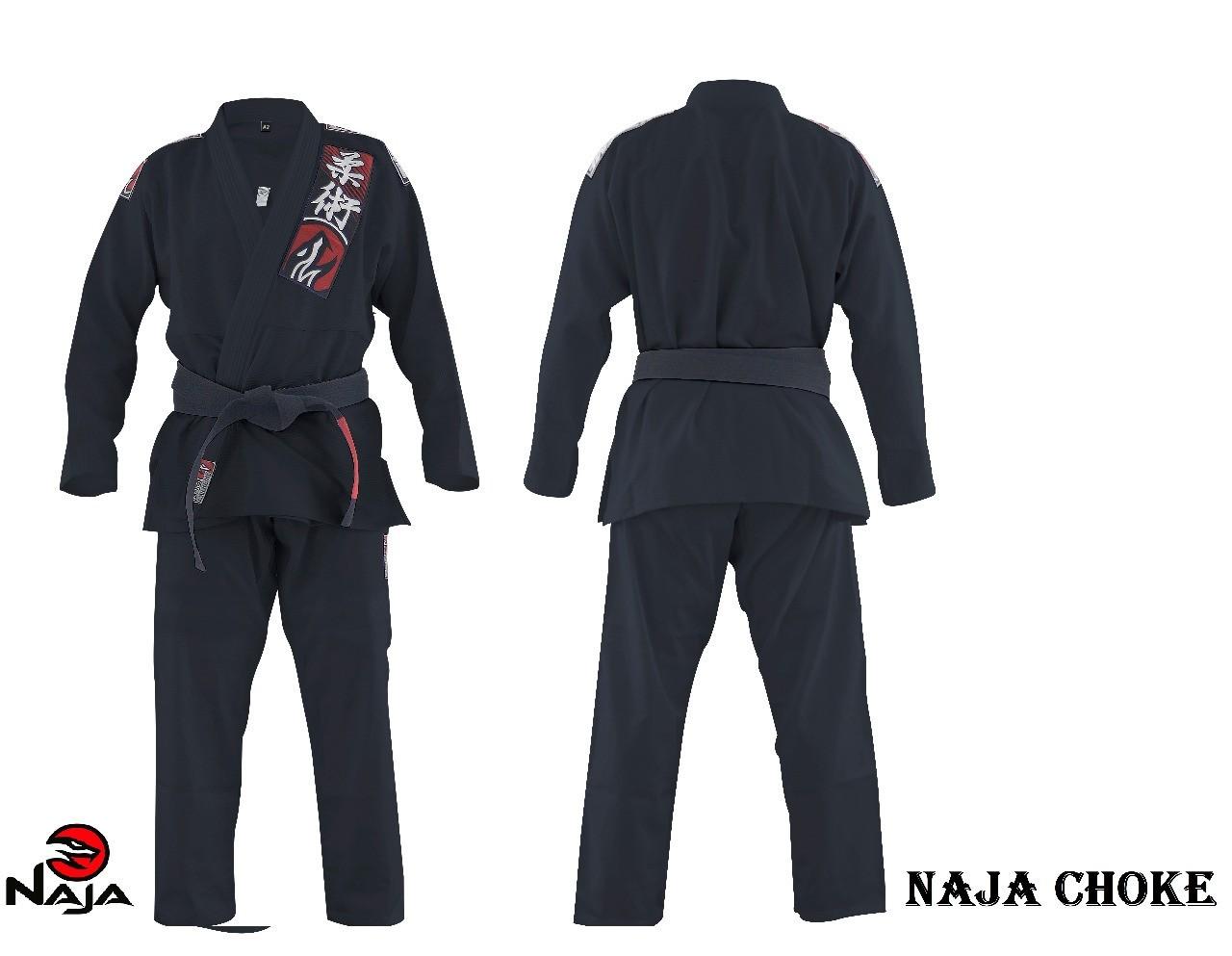 Kimono Jiu Jitsu Trancado Choke - Preto - Naja