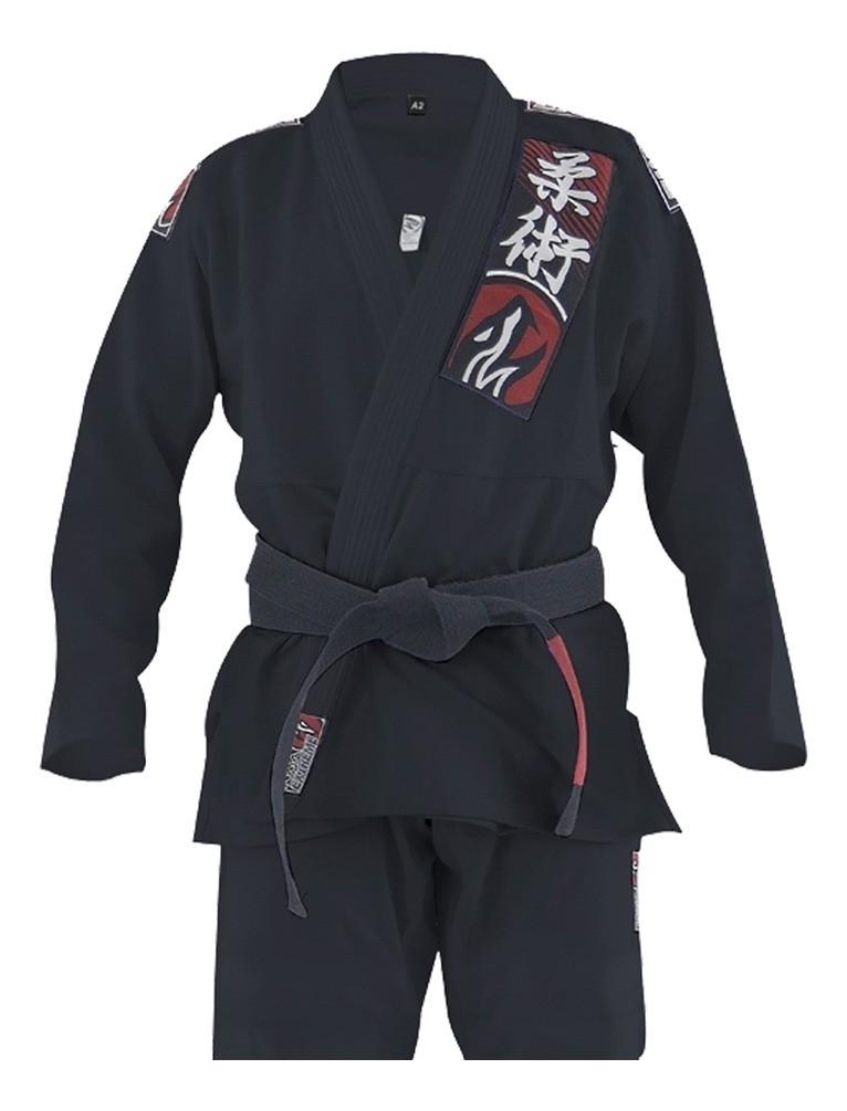 Kimono Jiu Jitsu Trancado Choke - Preto - Naja  - Loja do Competidor