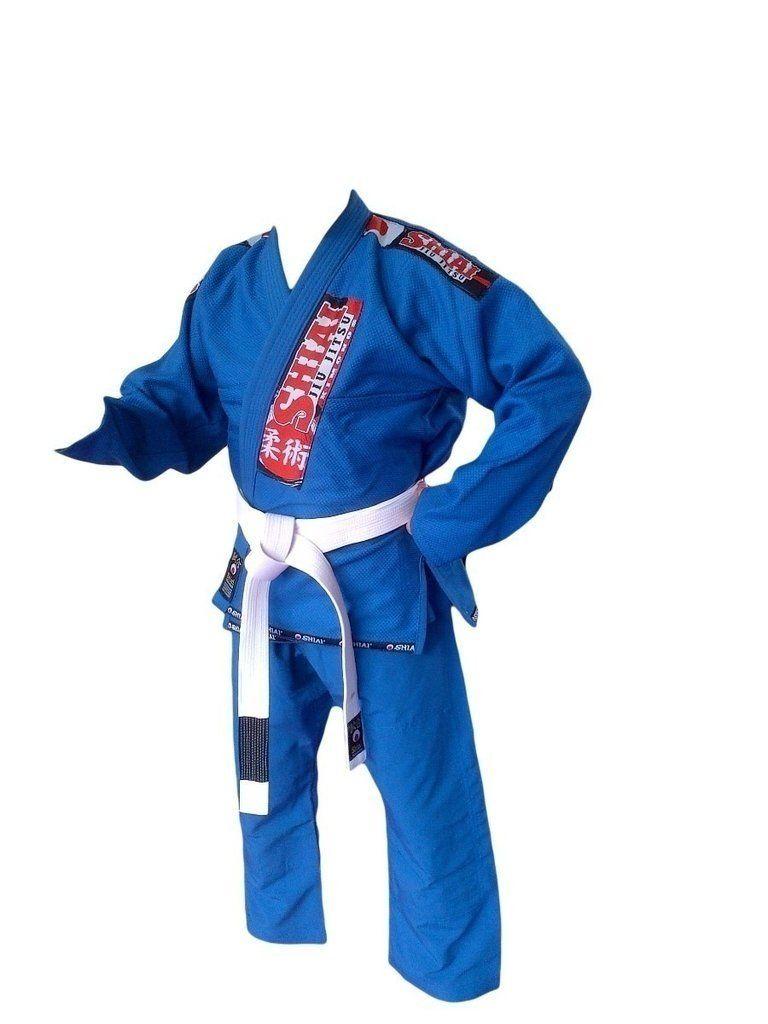 Kimono Jiu Jitsu - Trancado - Classic - Shiai- Azul  - Loja do Competidor