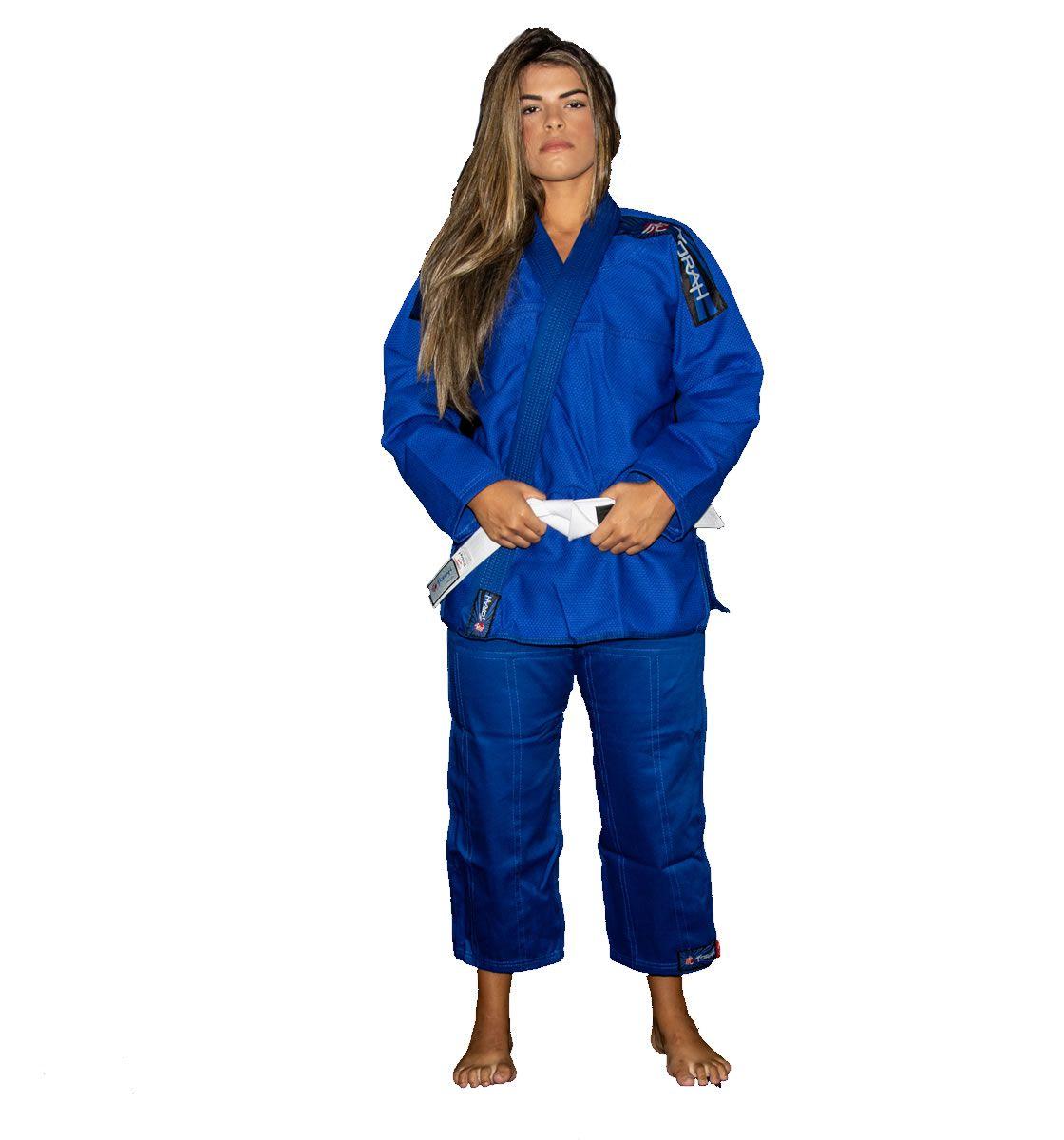 Kimono Jiu Jitsu Trançado Flex - Adulto - Azul - Unissex - Torah