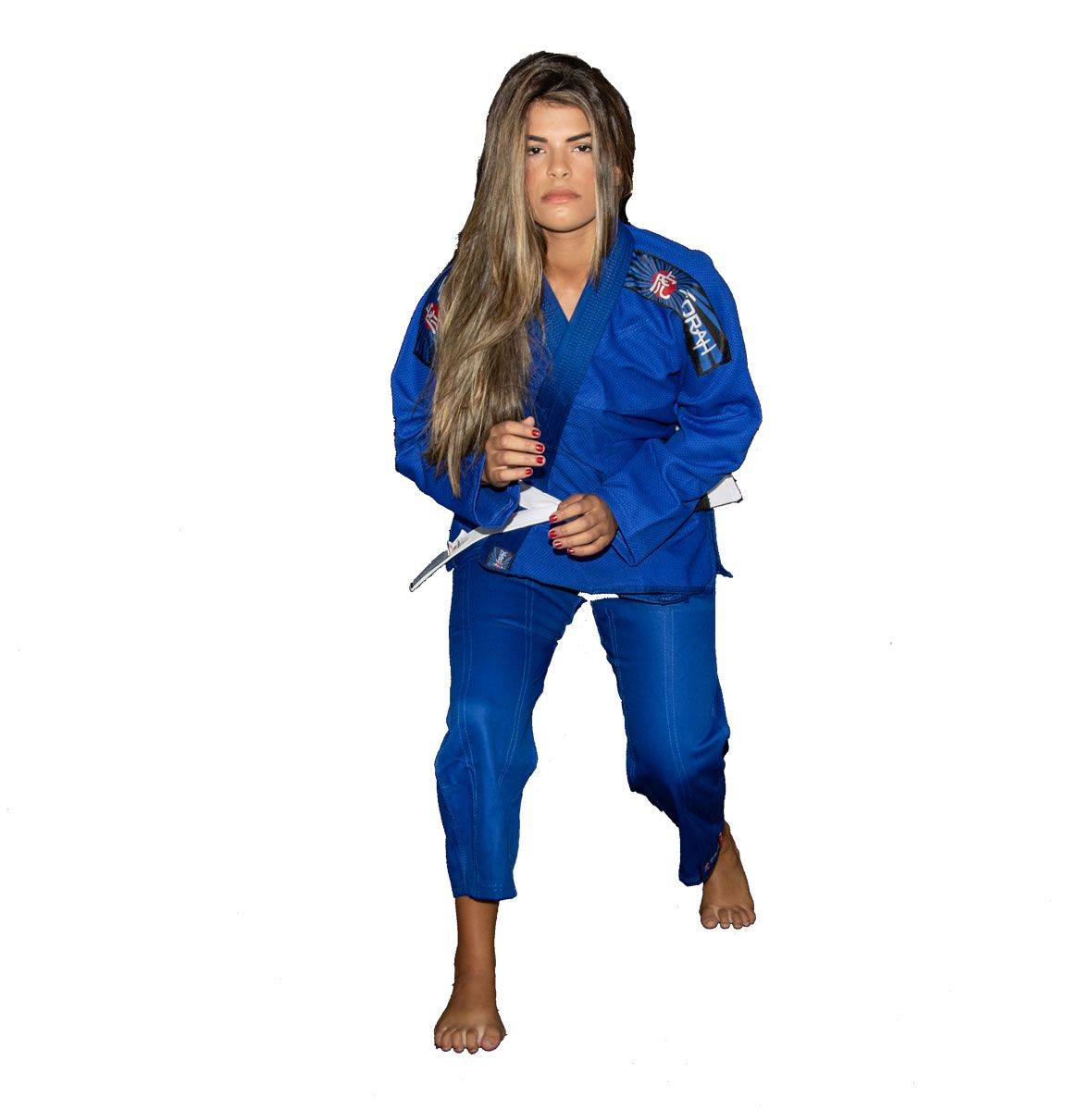 Kimono Jiu Jitsu Trançado Flex - Adulto - Azul - Unissex - Torah  - Loja do Competidor