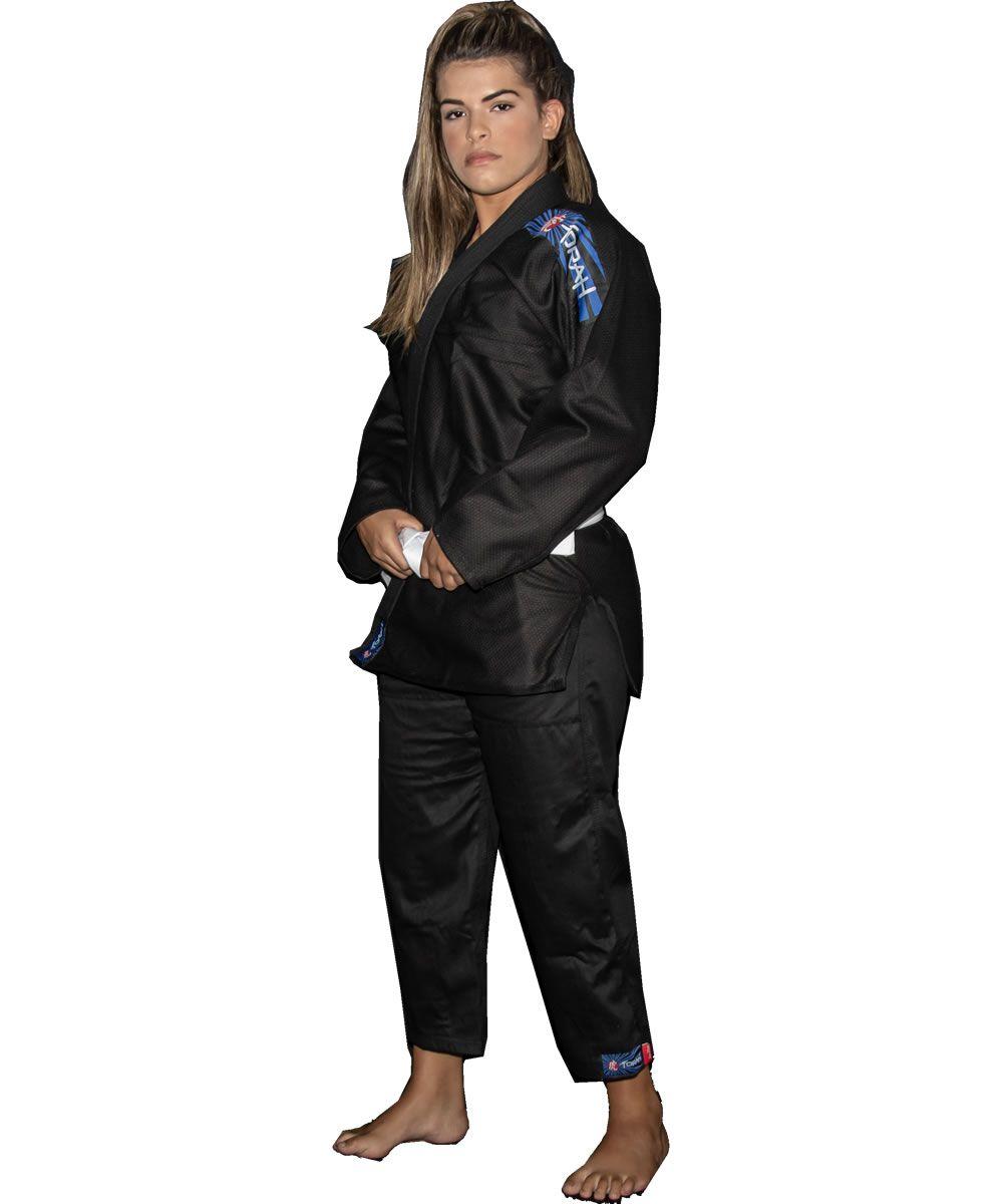 Kimono Jiu Jitsu Trançado Flex - Adulto - Preto - Unissex - Torah