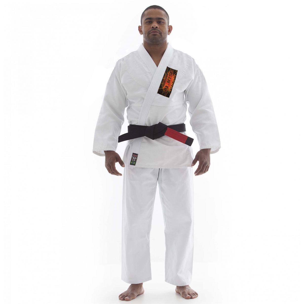 Kimono Jiu Jitsu - Trancado Master Competição - The Best - Shiroi - Branco