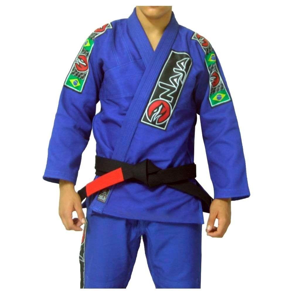 Kimono Jiu Jitsu - Brazilian Extreme - Trancado - Naja - Azul