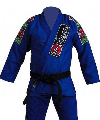 Kimono Jiu Jitsu - Trancado - Naja - Azul  - Loja do Competidor