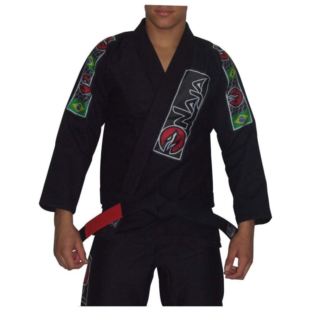 Kimono Jiu Jitsu - Brazilian Extreme - Trancado - Naja - Preto  - Loja do Competidor