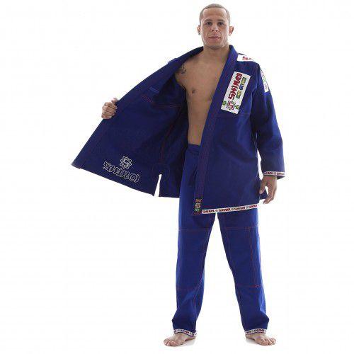 Kimono Jiu Jitsu - Trancado - Plus - Shiroi - Azul