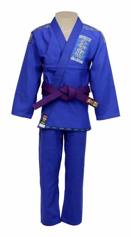 Kimono Jiu Jitsu - Trancado - Tradicional - Shiroi - Azul