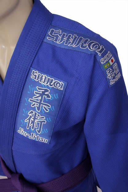 Kimono Jiu Jitsu - Trancado - Tradicional - Shiroi - Azul  - Loja do Competidor